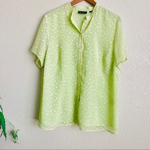 Avenue lime green chiffon shirt
